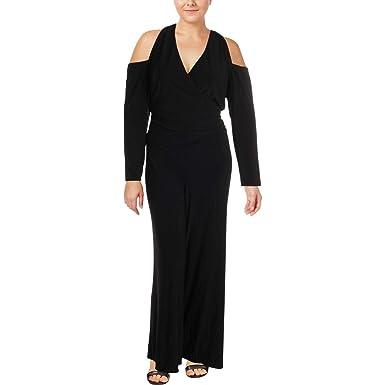 09985073d6c Amazon.com  LAUREN RALPH LAUREN Womens Plus Cold Shoulder Jumpsuit ...