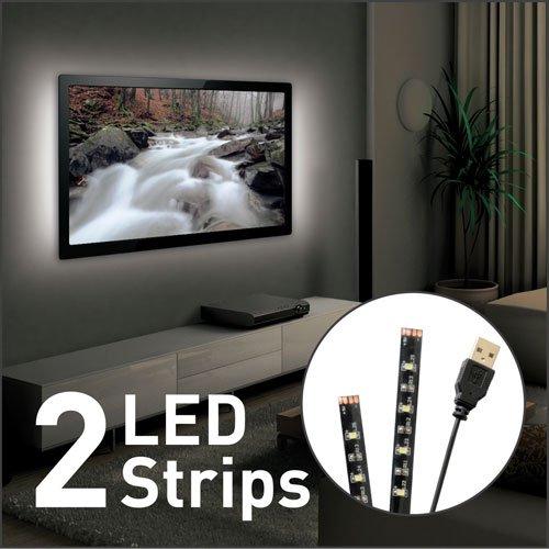 Barkan(モデルL10)(2)フラットまたは湾曲したスクリーンのためのLEDストリップアンビエントムードライトLCD OLED TV   B01F69LNZA