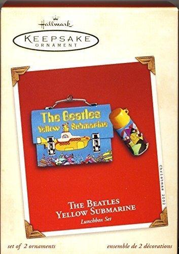 The Beatles Yellow Submarine Lunchbox Set Ornament HALLMARK KEEPSAKE ORNAMENT Beatles Yellow Submarine Ornament