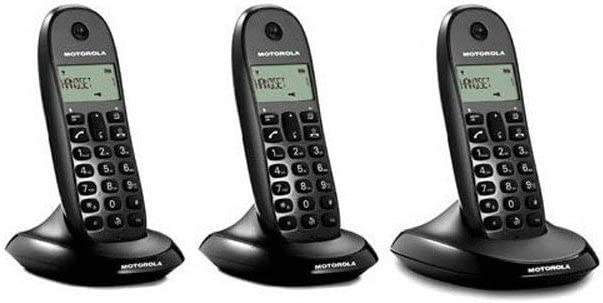 Motorola C1003 Trio - Teléfono fijo, color negro