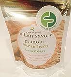 Casa de Sante Low FODMAP Granola - Gluten Free, Oat Free, Vegan, Dairy Free Artisan Snack, Breakfast or Topping (Tuscan Herb) 4 Pack