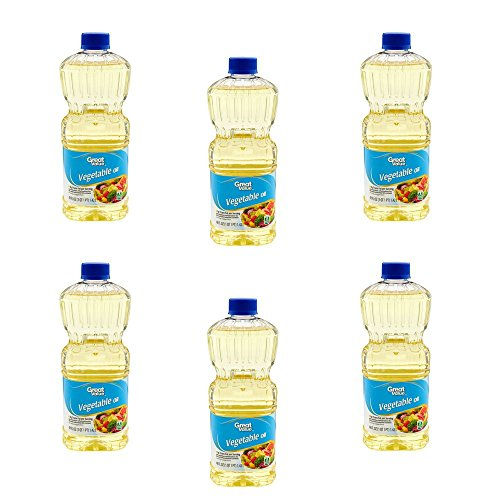 Great Value Vegetable Oil, 48 Oz, Pack of 6 by Great Value