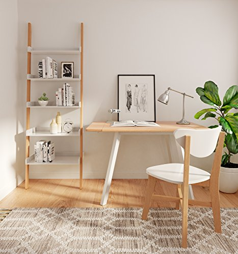 Universal Expert FUTB10009A Abacus Extendable Dining Table, Oak/White ()