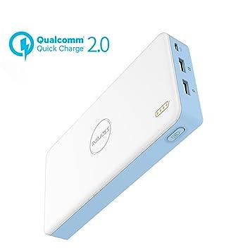 Cargadores Quick Charge 2.0, 20000mah Cargador Portátil Bidireccional Quick Charge 2.0 con Doble Entrada (5V - 9V / 2A, 12V / 1.5A (MAX) ) , Batería ...