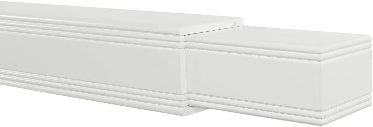 48 to 80 White Pearl Mantels Emory Adjustable Mantel Shelf