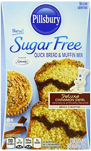(Pillsbury Sugar Free Cinnamon Swirl Flavored Quick Bread and Muffin Mix, 16.4 Ounce)
