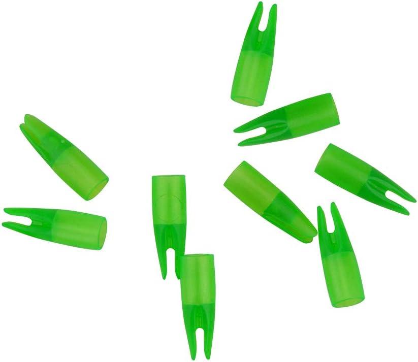 Details about  /10pcs archery arrow nocks for shaft OD 8mm white green T Q*A7US