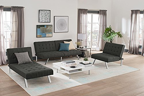 Dhp Emily Futon Couch Bed Modern Sofa Design Includes