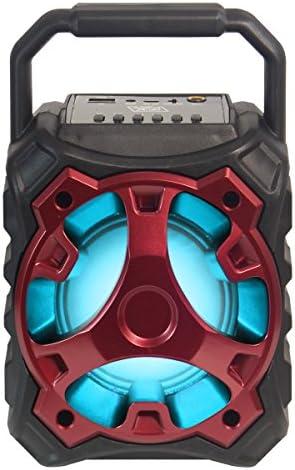 Excessive Powered BLADE10 Moveable Bluetooth Multimedia Speaker – Crimson