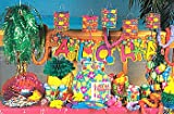Wholesale Luau Party Supplies in a Box Lot -Table Skirt, Leis, Tattoos, Straws, Decorations & More!)