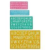 Westcott C-Thru (02145) Juego de guías plásticas para Letras