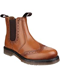 Mens Dalby Pull On Brogue Boots