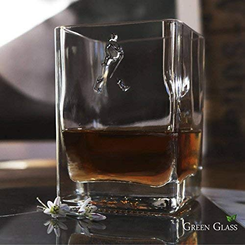 Gold Label Whiskey - JOHNNIE WALKER GOLD LABEL LUXURY WHISKEY ROCKS CRYSTAL GLASS