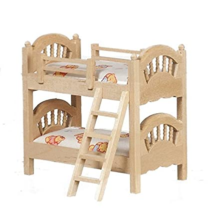 Amazon Com Melody Jane Dollhouse 1 24 Scale Bunk Beds Unfinished