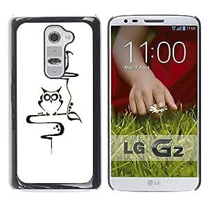 For LG G2 / D800 / D802 / D802TA / D803 / VS980 / LS980 Case , Teacher Smart Minimalist School - Diseño Patrón Teléfono Caso Cubierta Case Bumper Duro Protección Case Cover Funda