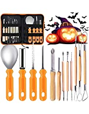 XINGHE Halloween Pumpkin Carving Kit, 12PCS Professional Stainless Steel Pumpkin Cutting Carving Supplies Tools for Adults & Kids, Pumpkin Carving Set with Carrying Case for Jack-O-Lanterns