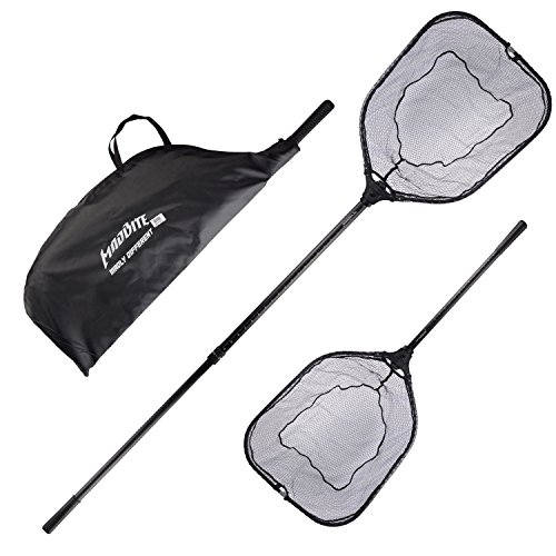 (KastKing Madbite Folding Landing Nets, 24 inch Hoop Size(Improved Telescopic Handle))