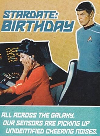 Amazon birthday card star trek stardate birthday health birthday card star trek quotstardate birthdayquot bookmarktalkfo Image collections