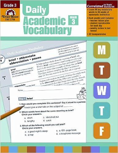 Daily Academic Vocabulary, Grade 3: Evan Moor: 9781596732025 ...