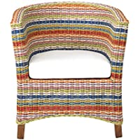 East at Main Highland Multi-Colored Rattan Occasional Accent Chair, (27x28x30)