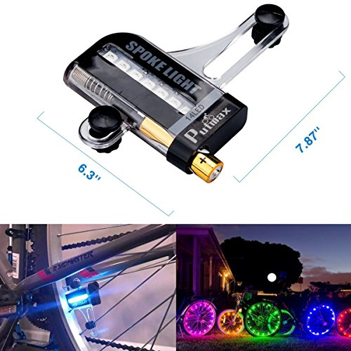 Putmax with Bike Wheel Lights - Bike Lights with Motion and Light Sensor-Safety Tire Light for Kids Adult Riding at Night - 2ct Bike Spoke Lights by Putmax (Image #5)