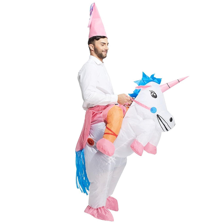 Amazon.com: TOLOCO Inflatable Unicorn Rider Costume | Inflatable ...