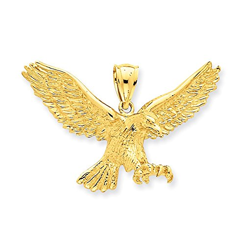 14K Yellow Gold Eagle With Extended Claws Pendant (14k Gold Eagle Claws)