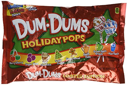 Dum-Dums Holiday Pops, 44 Pops; 8 Flavors: Sugar Cookie, Gingerbread, Apple Cider, -
