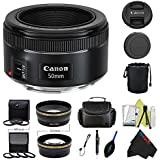 Canon EF 50mm f/1.8 STM Lens + Pixi-Pro Accessory Bundle