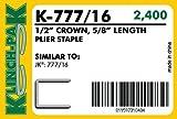 K-777/16, 777 Plier Staple (20 Boxes Per Case) - AXXIS-K-777/16