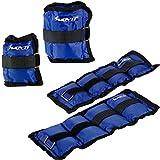 MOVIT 4er Set Gewichtsmanschetten, 2x 500g und 2x 1000g Laufgewichte für Fuß- und Handgelenke