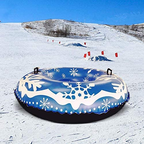WNSS9 Snow Tube Skiing Accessories, Heavy Duty Inflatable Snow Tube Sled for Kids and Adults, Giant Snow Toys for Winter Sport Fun Heavy Duty Inflatable Snow Tube Made by Thickening Material