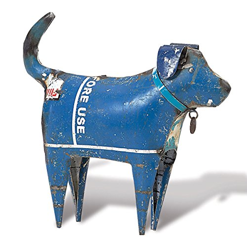 (Foreside Home & Garden FFGD05348 Recycled Dog Standing Figurine, 7x8)