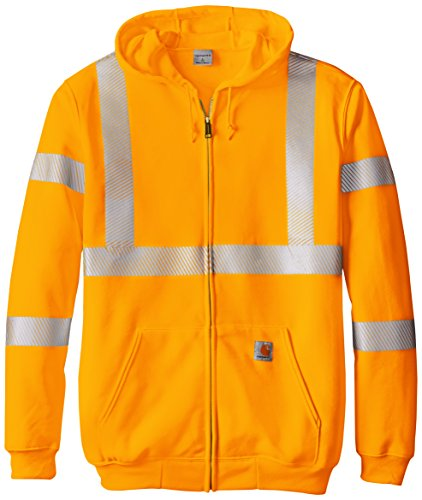 Carhartt Men's Big & Tall High Visibility Class 3 Sweatshirt,Brite Orange,X-Large Tall ()
