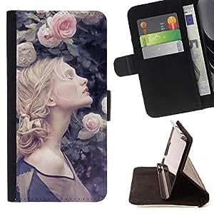 Momo Phone Case / Flip Funda de Cuero Case Cover - Trenzado Primavera Vignette Rose - LG Nexus 5 D820 D821