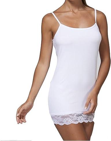 JADEA - Camiseta de Tirantes para Mujer, Hombros Estrechos con ...