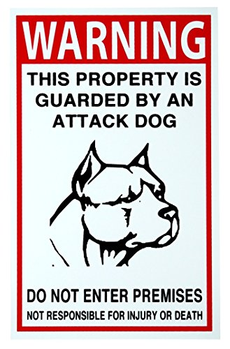 1 Pc Master Unique Security Beware Dog Signs Keep Out No Trespassing Anti-Burglar Video Hr Surveillance Reflective Decals Fence Property Under Cameras Protected Home Premises Hour Yard Size 7