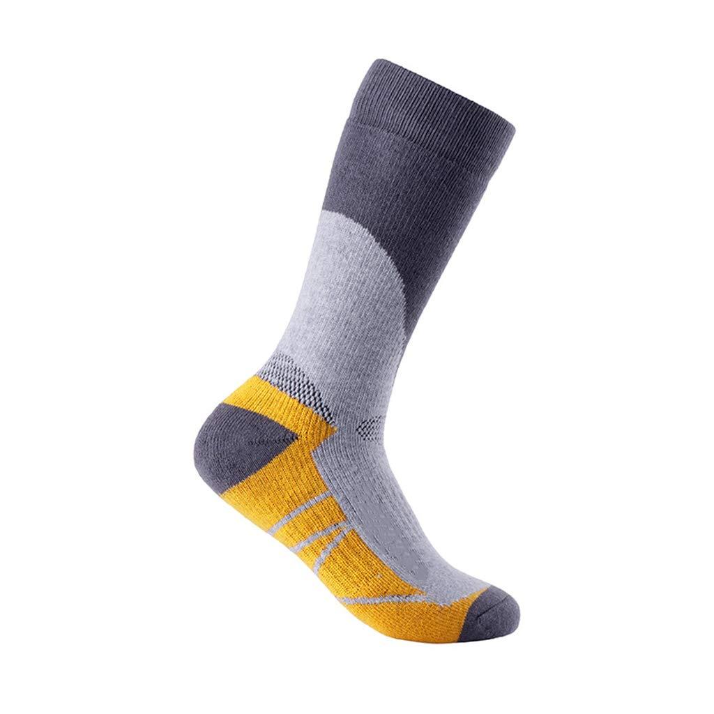 Winter Damen Feuchtigkeitstransport warme Ski Socken Outdoor Männer und Frauen warme Sportsocken Männer und Frauen Socken Wandern (Color : D(7pairs))