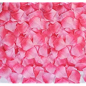 Pink Rose Petals Silk Flower Fake for Romantic Wedding Proposal Decorations 2000PCS 52
