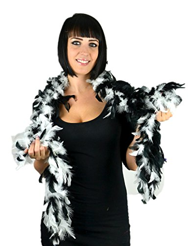 (Touch of Nature 36802 Chandelle Boa, Black/White)