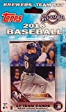 Milwaukee Brewers 2016 Topps Factory Sealed Special Edition 17 Card Team Set with Ryan Braun Plus