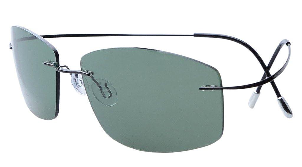 Amazon.com: Eyekepper Rimless Titanium Frame Polarized Sunglasses ...