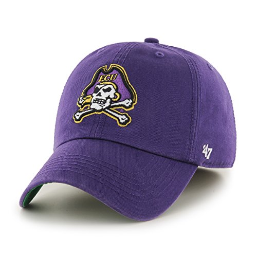 Pirates Hats ('47 NCAA East Carolina Pirates Franchise Fitted Hat, Purple, XX-Large)