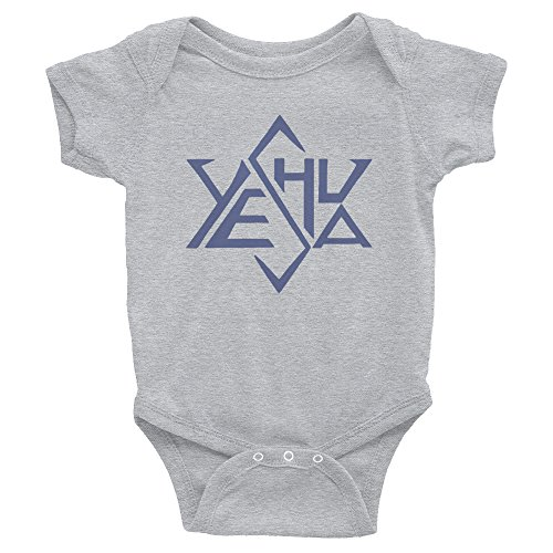 Precious Glory Co Yeshua Onesie Hebrew Name Jesus Blue Star of David Baby Jesus Bodysuit