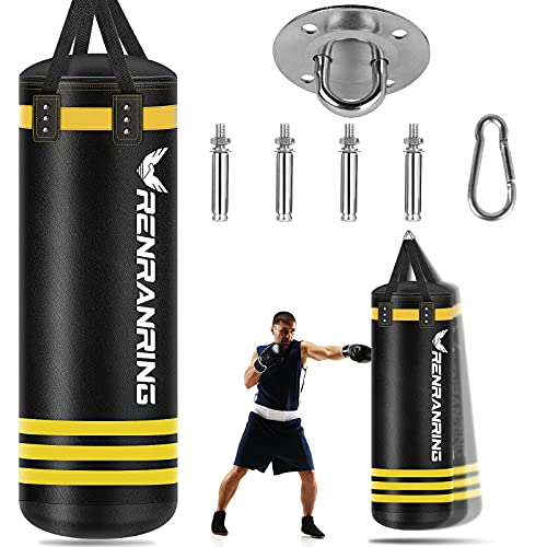 Punching Bag – Heavy Hanging Boxing Bags for Adults, Boxing Equipment, Heavy Punching Bags Set with Expansion Screw…