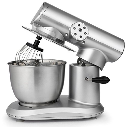 Stand Mixer, 650W Electric Food Mixer with 6-Speed Control, 5.5L Stainless Steel Bowl and 3 Additional Attachments – Flat Beater, Dough Hook and Wire Whip (US STOCK) For Sale