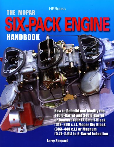 The Mopar Six-Pack Engine Handbook HP1528: How to Rebuild and Modify the 440 6-Barrel and 340 6-Barrelor Convert Your LA Sm all-Block (318-360 c.i.), Mopar ... Block (383-440 c.i.) or Magnum (5.2L-5.9L) ()