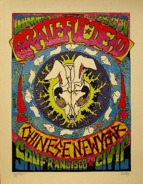Grateful Dead Chinese New Year Signed Rock Concert Poster Print ()