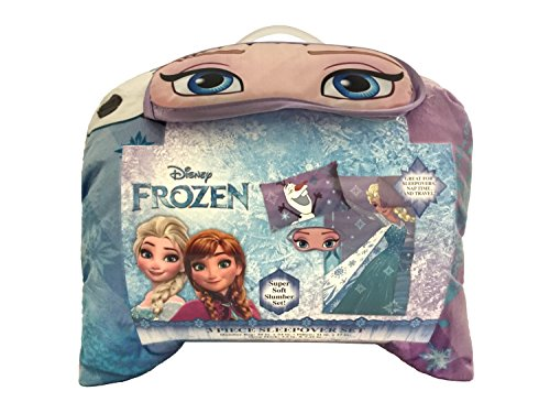 Disney Frozen Let It Go 3 Piece Plush Sleepover Set by Jay Franco (Image #1)