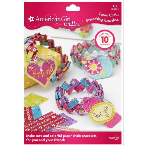 American Girl Crafts Paper Chain Friendship Bracelet Kit ()
